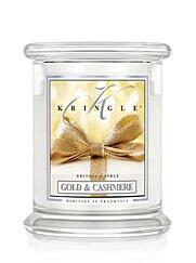 KRINGLE CANDLE Medium Duftkerze – GOLD&CASHMERE