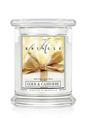 KRINGLE CANDLE KÖZEPES ILLATGYERTYA - GOLD&CASHMERE