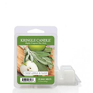 KRINGLE CANDLE, VONNÝ VOSK - CRISP APPLE&SAGE, 64 G