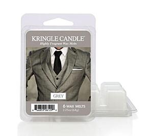 KRINGLE CANDLE, VONNÝ VOSK - GREY, 64 G