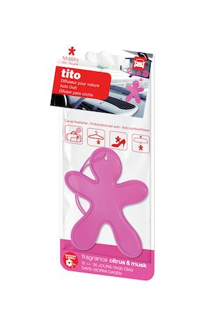 TITO voňavý panáček, růžový - Citrus&Musk