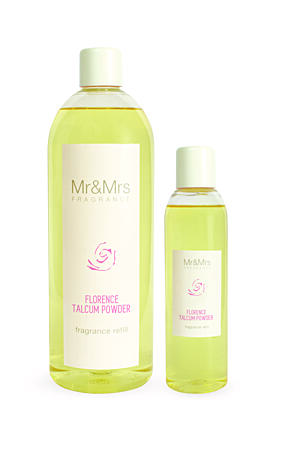 MR&MRS FRAGRANCE NÁPLŇ DO DIFUZÉRU - FLORENCE TALCUM POWDER, 1000 ML