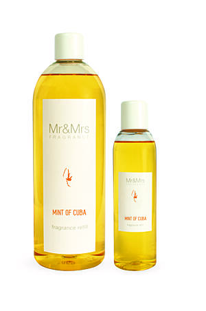 MR&MRS FRAGRANCE NÁPLŇ DO DIFUZÉRU - MINT OF CUBA, 1000 ML