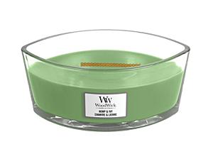 WOODWICK DUFTKERZE SCHIFFCHEN - HEMP&IVY, 453 G