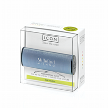 Vôňa do auta Metallo - Matná modrá, Millefiori - Oxygen