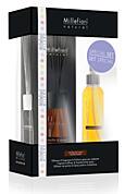 MILLEFIORI NATURAL ajándékszett - pálcás illatosító 100 ml + illatosító spray 150 ml, Vanília és fa illat