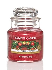 Sviečka v skle malá, Yankee Candle, Red Apple Wreath